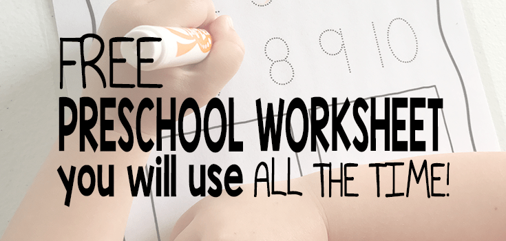 FREE Preschool Worksheet You Will Use All The Time! – The Super Teacher
