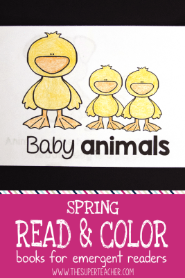 Spring Read and Color Books for Emergent Readers