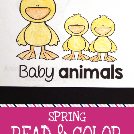 spring read and color