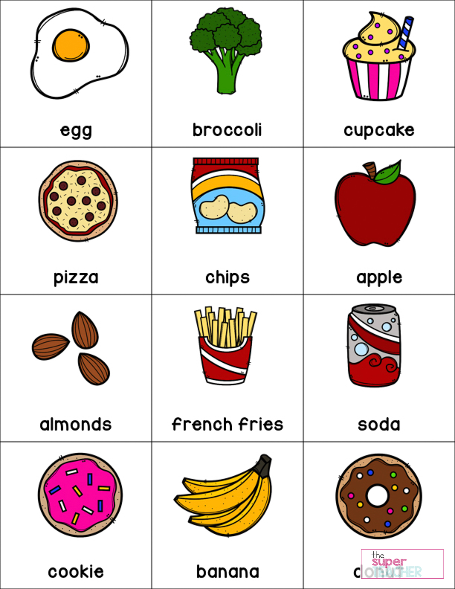 Healthy Foods Posters Worksheets And Activities The Super Teacher