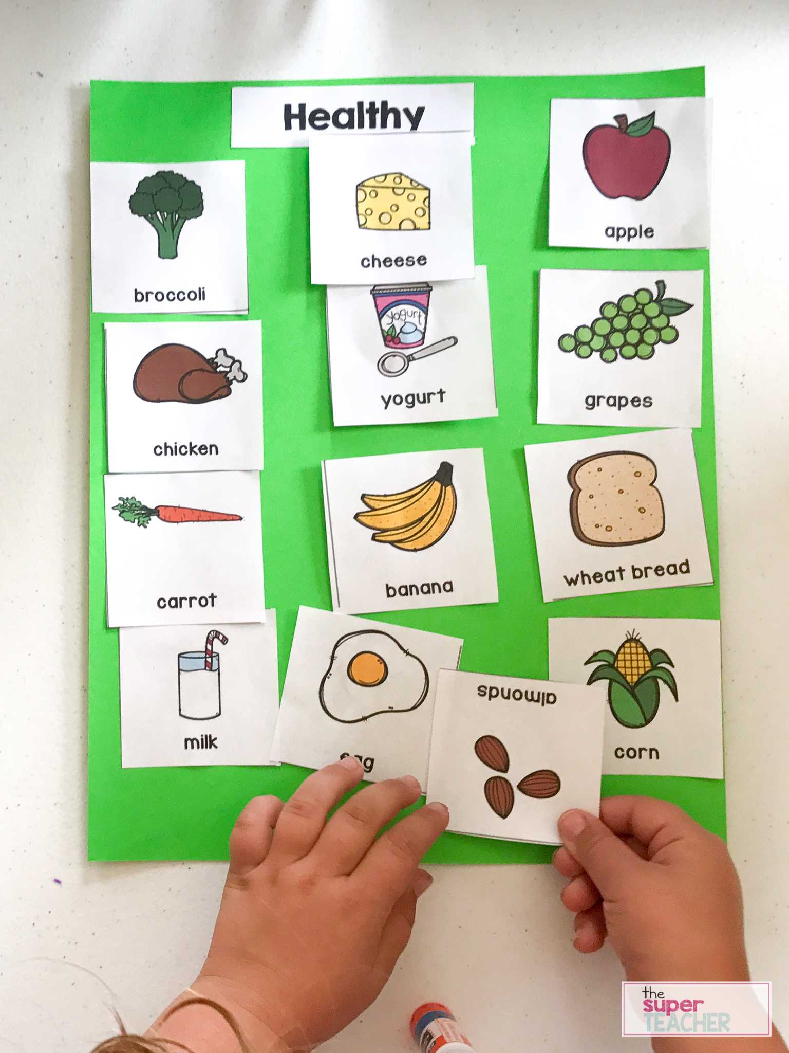 Healthy Foods Posters Worksheets And Activities The