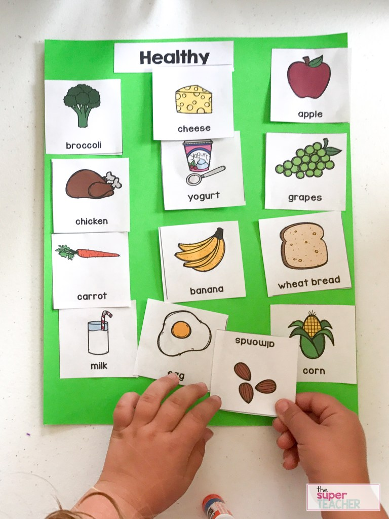 Healthy Foods Worksheet [FREE DOWNLOAD] - The Super Teacher