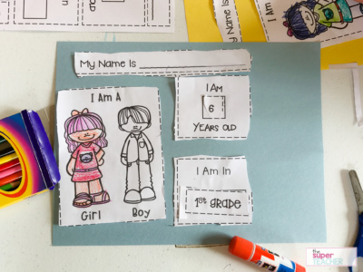 All About Me: The Perfect Preschool Notebook to Introduce Writing