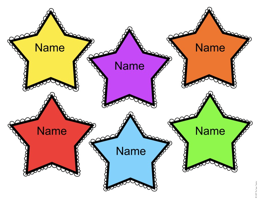FREE Editable Star Name Tags