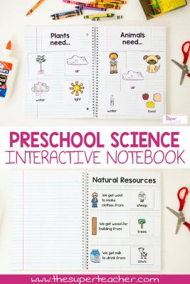 Preschool Science Interactive Notebook