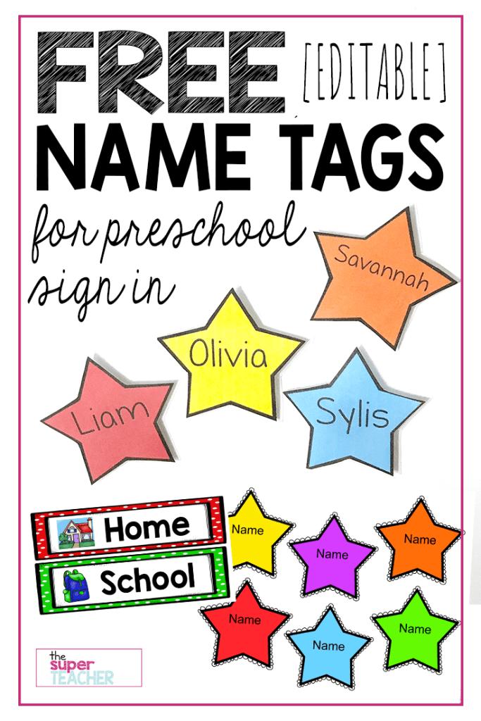 FREE Editable Star Name Tags - The Super Teacher
