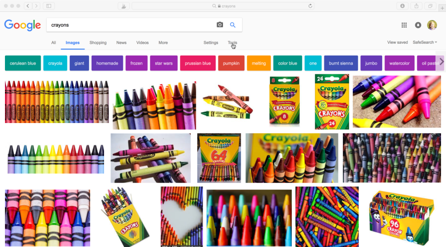 How to find images on Google for toy labels.