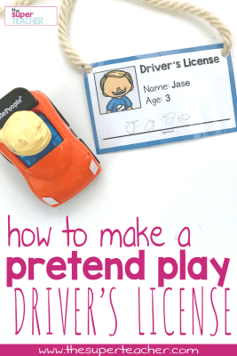 How to Make a Pretend Play Driver's License for a Transportation Theme