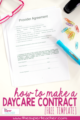 How to Make a Daycare Contract [FREE DOWNLOAD]