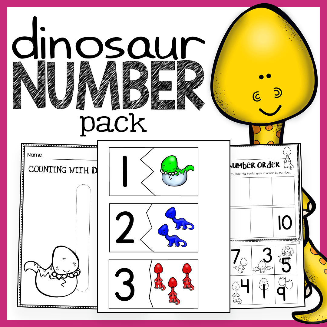 image regarding Printable Math Centers named Dinosaur Product - Amount Worksheets, Math Facilities, Flash Playing cards, and Actions! - The Tremendous Instructor