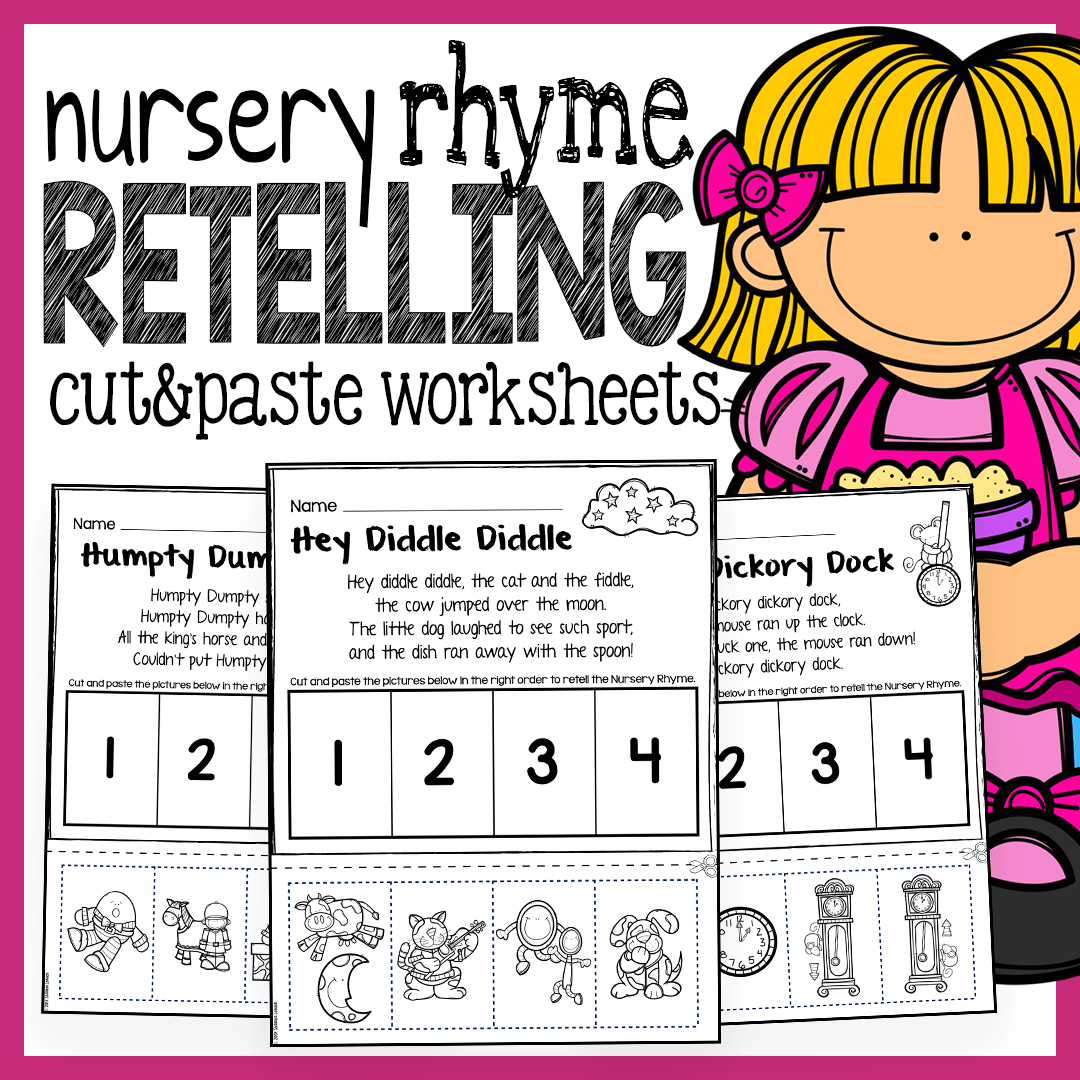 Free Kindergarten Cut And Paste Rhyming Worksheets Free Best Free Printable Worksheets
