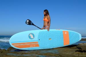 woman with Isle Versa Epoxy paddleboard