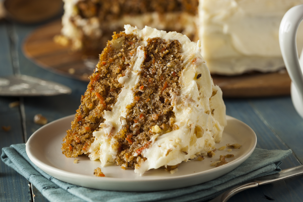 A recipe for classic carrot cake made paleo and gluten free--a perfect addition to Easter brunch. | thesurferskitchen.com