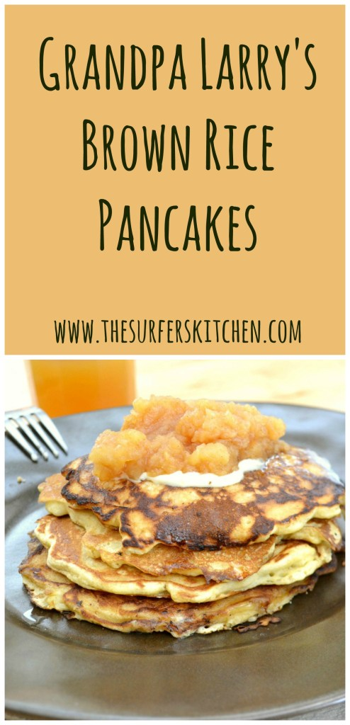 brown rice pancakes with applesauce