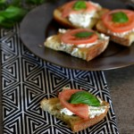 Herbed Goat Cheese Toasts with Fresh Summer Tomatoes