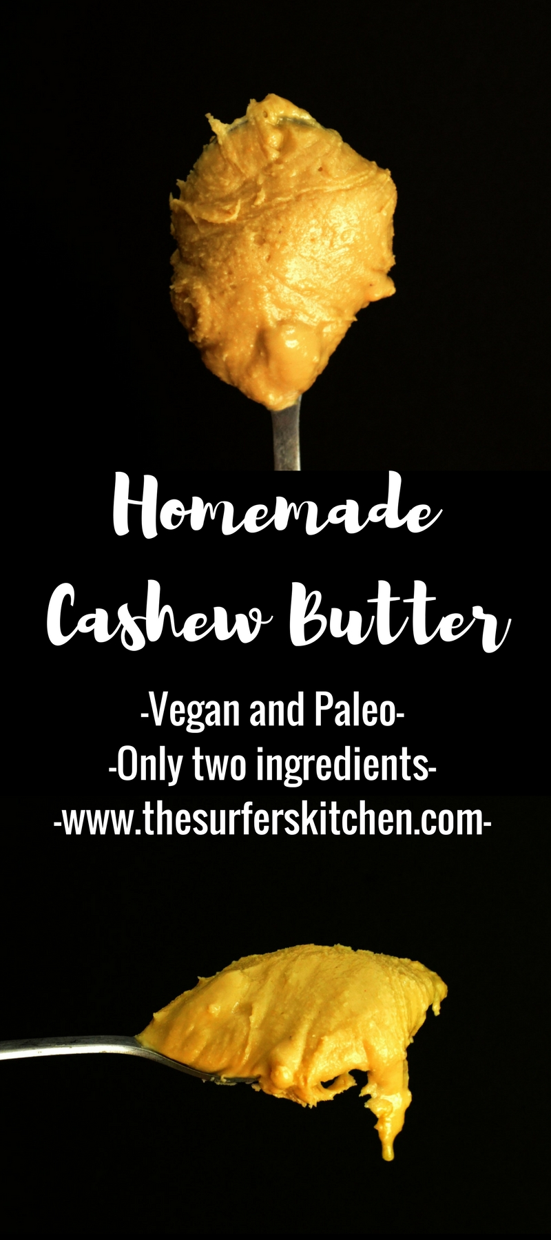 Homemade Cashew Butter | Who knew that cashew butter would be so useful to have around the house and so easy to make? Two ingredients and 15 minutes for your own batch. | www.thesurferskitchen.com