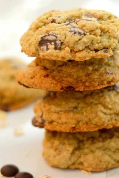 Giant Oatmeal Chocolate Chip Cookies
