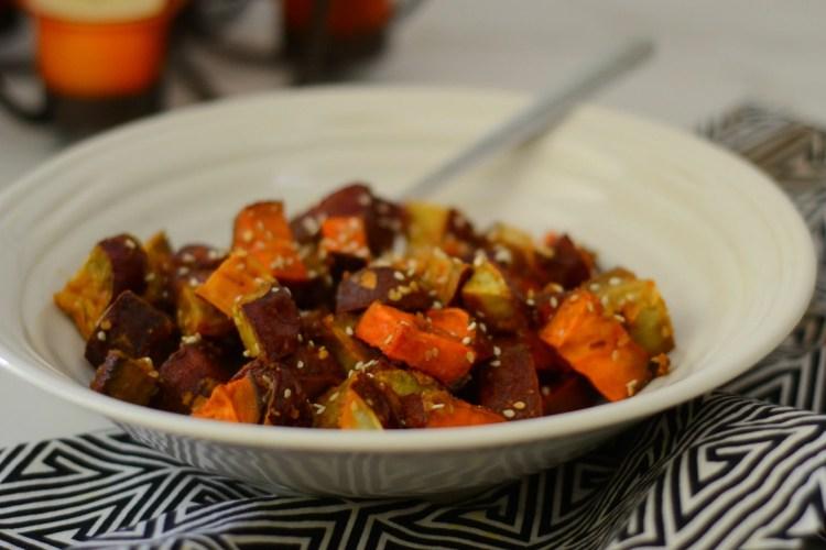 Miso-Glazed Sweet Potatoes