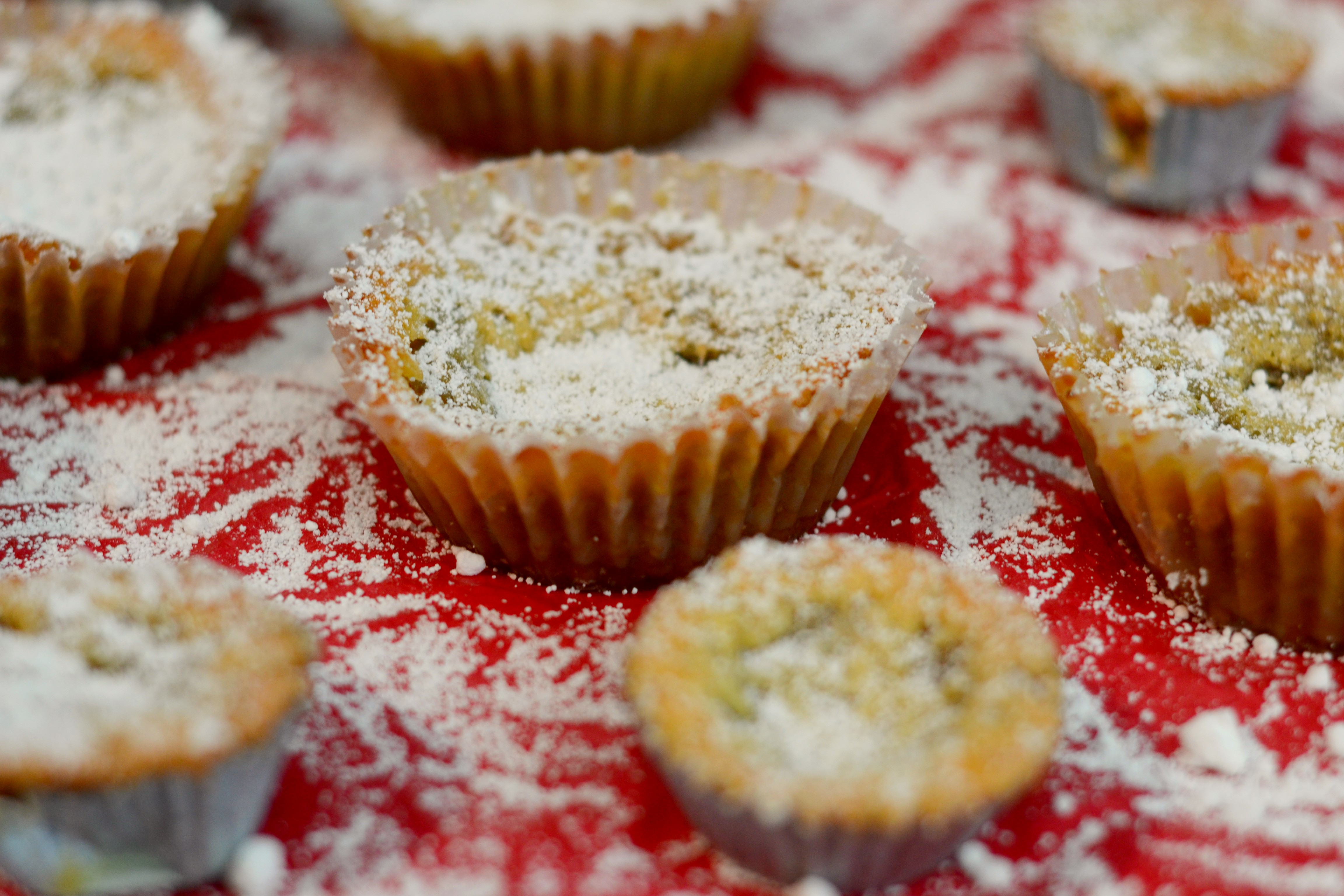 Mini Crack Pie topped with powdered sugar