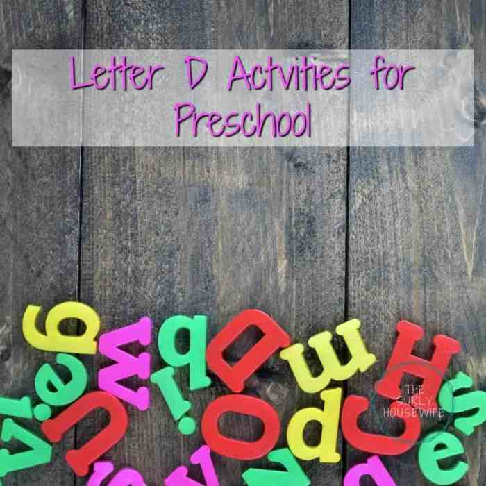 Letter D activities for preschool. A fun and hands-on way for toddlers, preschoolers, and kindergartens to learn and practice the alphabet.