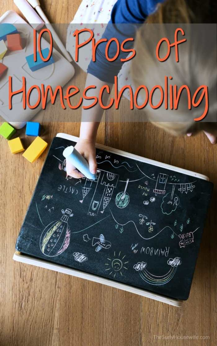 Parents are the first to admit homeschooling is incredibly hard. I have found the pros of homeschooling outweigh any cons you may encounter!