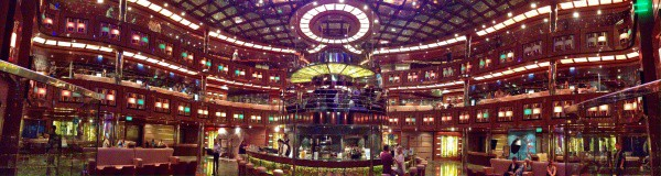 Atrium aboard the Carnival Dream