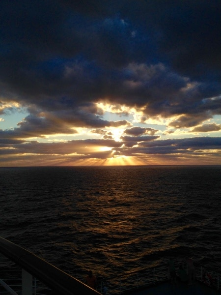 Sunrise aboard the Carnival Dream