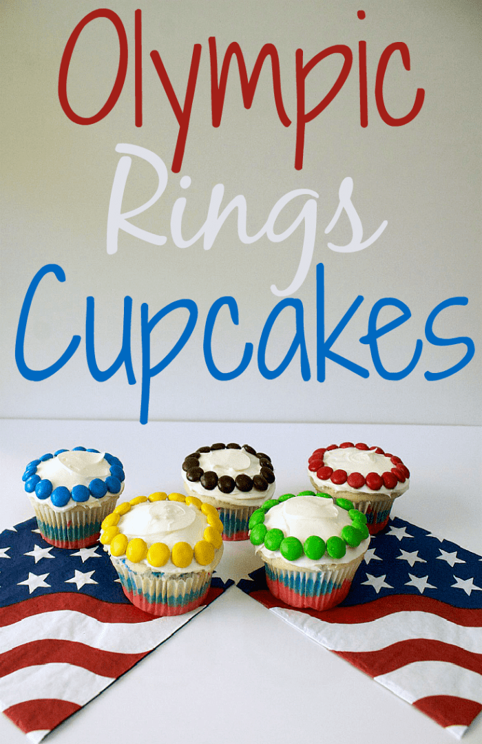 Throwing an Olympic themed party? Don't forget to add these colorful, easy, and delicious cupcakes to your dessert table: Olympic Rings Cupcakes! The Olympic games are fast approaching, and these Olympic cupcakes are just what you need to celebrate with your kids. The countdown to Pyeongchang 2018 is on!