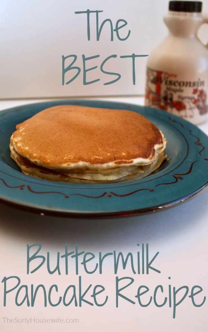 Making buttermilk pancakes from scratch is so easy!! Check out my buttermilk pancake recipe which makes fluffy and perfect pancakes every time. I dare say this is the BEST pancake recipe out there.