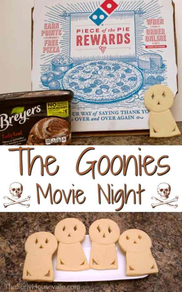 Family movie night is a great time for all. The Goonies is a perfect film for a movie party with your kids or your neighborhood!