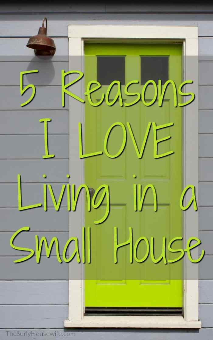 Living in a small house can sometimes be frustrating, but in reality they are awesome!! Click here to learn about some of the perks of small house living.