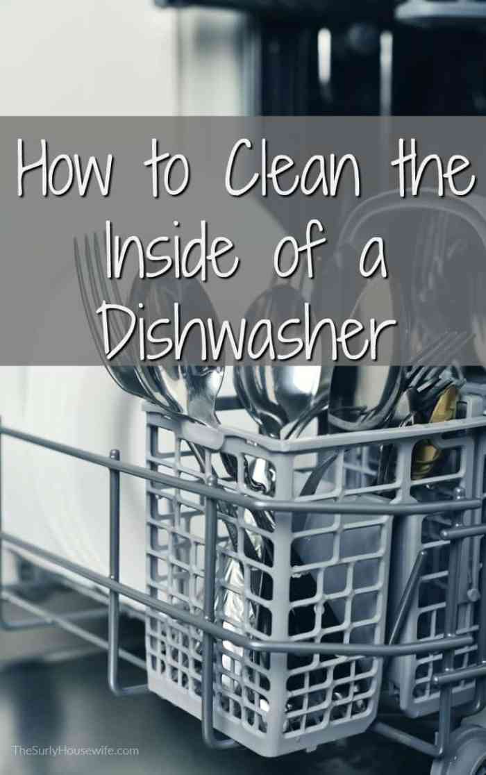 The dishwasher is a vital part of thee family kitchen. Click here to read how to clean the inside of your dishwasher, the key to keeping it running.