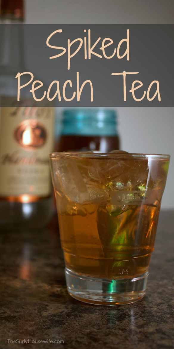 Spiking your peach tea with vodka is the perfect summer drink. As an added bonus, this recipe tastes like peach cobbler. Click here for the recipe!