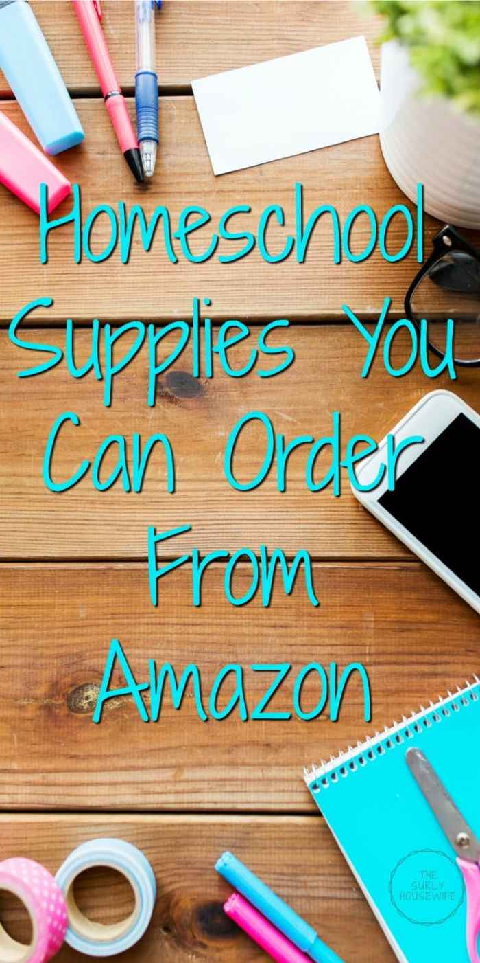 Looking for a list of homeschool supplies? Need tips on where to buy your supplies? Check out this post for 10 homeschool supplies from Amazon!