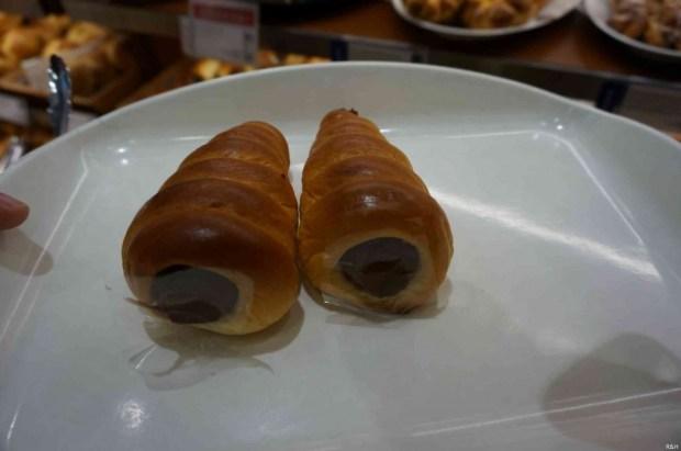 Coronets. Een soort croissantje met chocolade vulling. Onder andere super bekend door de serie Lucky Star.