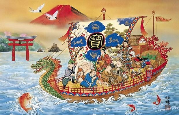 七福神 Shichi Fukujin De 7 goden van goed geluk. Afbeelding via Rakuten.