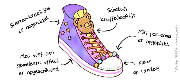 Happykleurtjes schoen