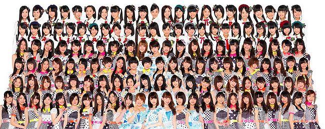 Diverse AKB48 leden (foto van april 2015). Foto via OhNoTheyDidn't.