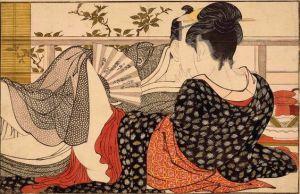 Poem of the Pillow door Kitagawa Utamaro. Gemaakt in 1788. Via TokyoDandy.