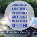 Getting Out and About When One Child Uses a Wheelchair and the Other a Stroller: The Inside Edition