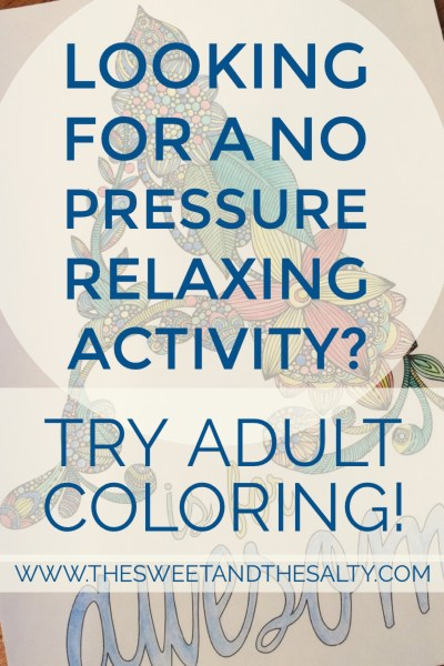 Finding a quick no pressure way to relax can be challenging in your day to day activities as a mom. Adult coloring is a proven way to ease stress, relax, and have a little fun while at. Check out some ways to make adult coloring a part of your day to ease anxiety and relieve stress!