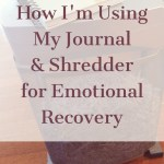 Getting the Ugly Out:  How I'm Using My Journal and Shredder for Emotional Recovery