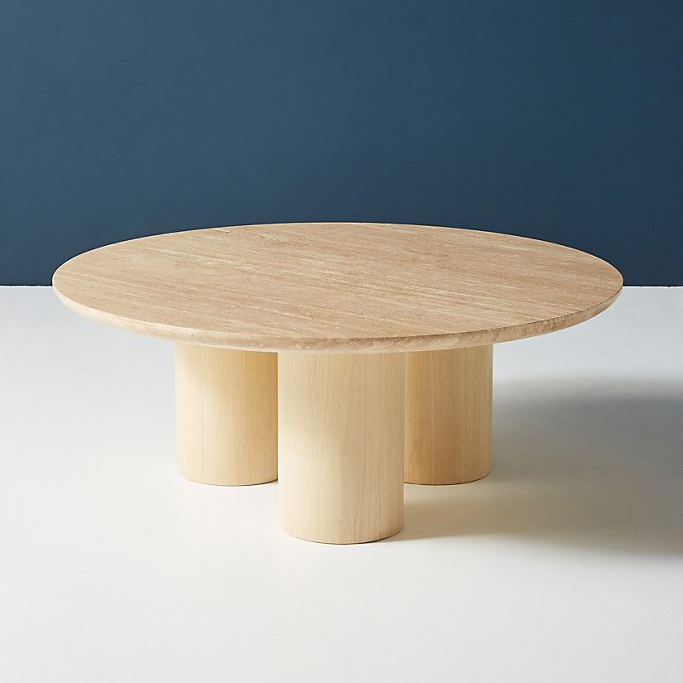Anthropologie Anya Travertine Coffee Table Product Photo