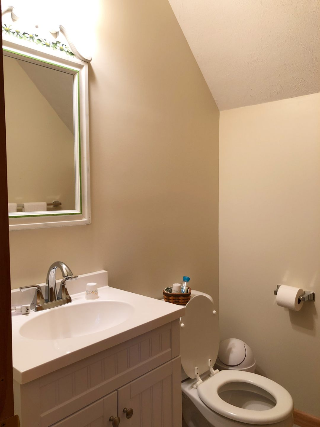 Small powder room