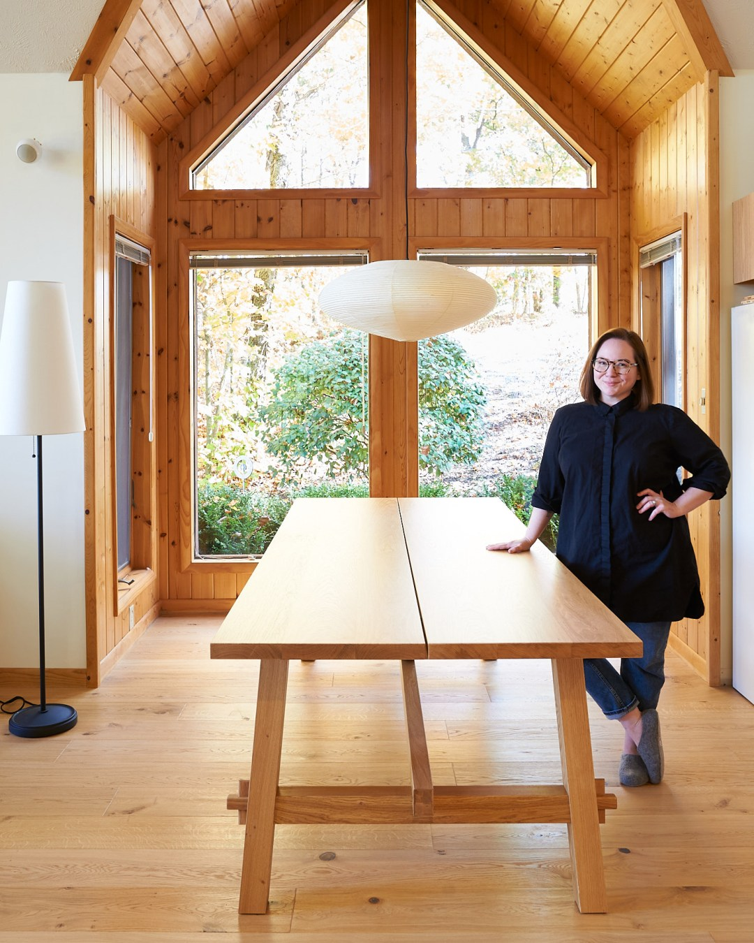 The Cabin Dining Nook Update: An IKEA Table And A Noguchi Akari