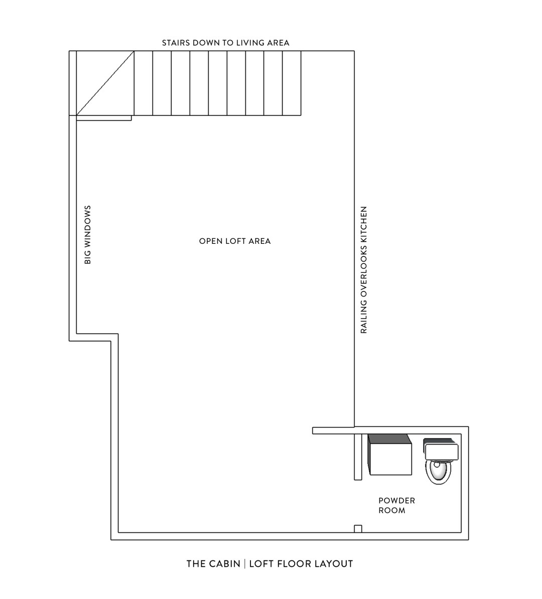 a-frame loft floor plan