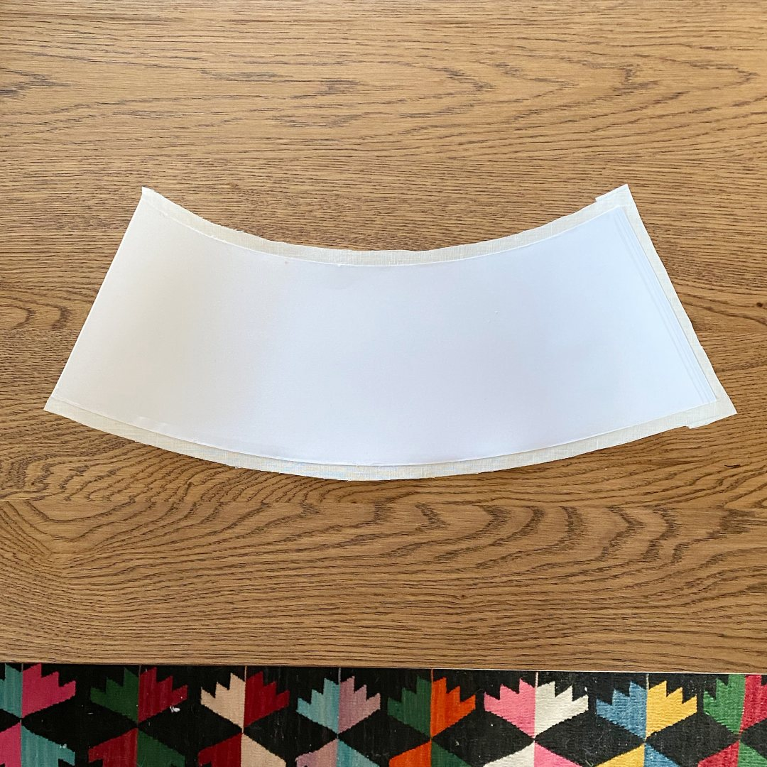 Linen Lamp Shade Makeover
