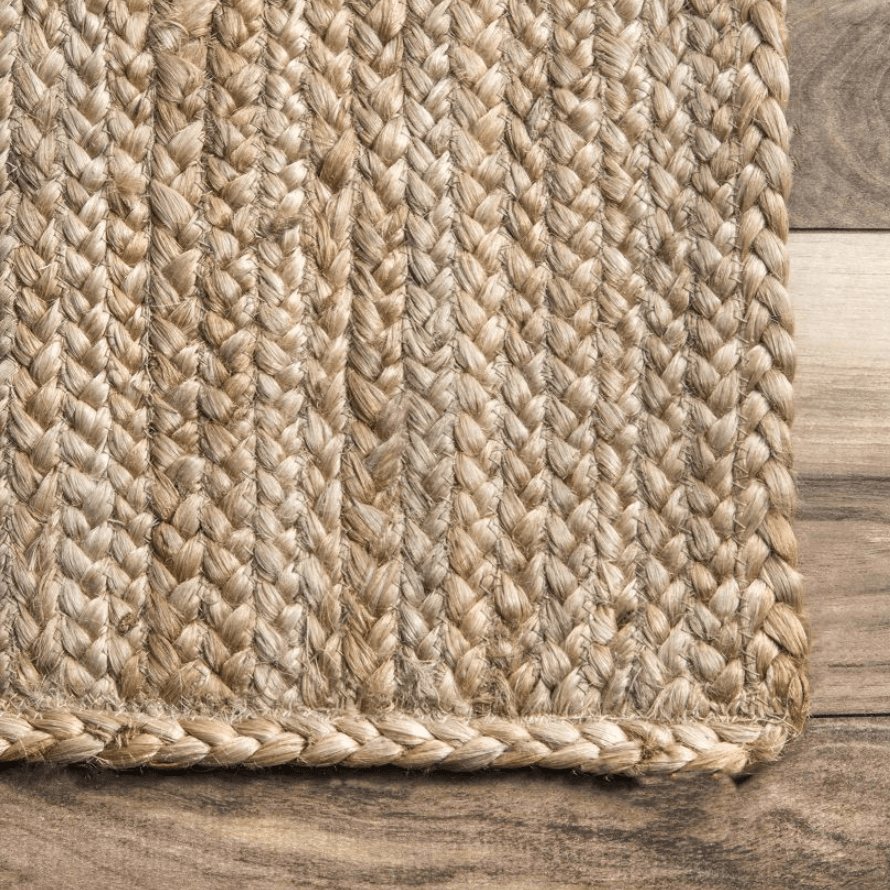 Natural Jute Braided Area Rug Product Photo