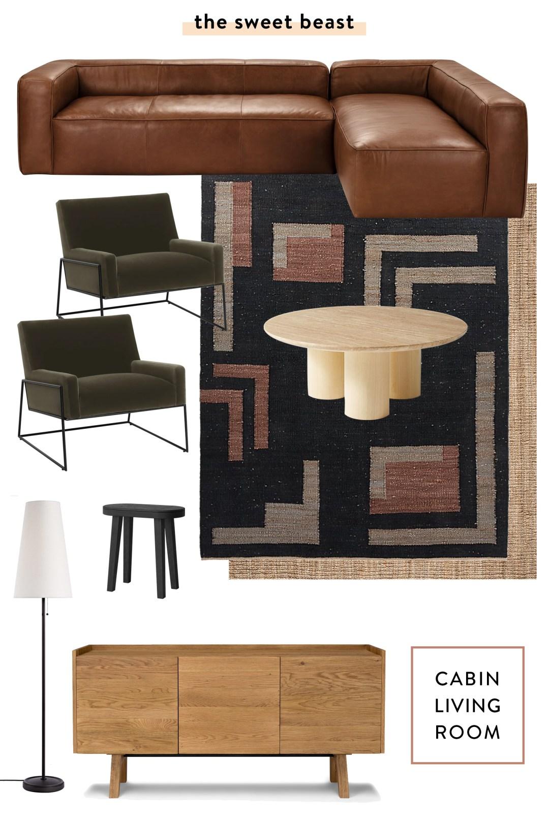 Cabin Living Room Mood Board