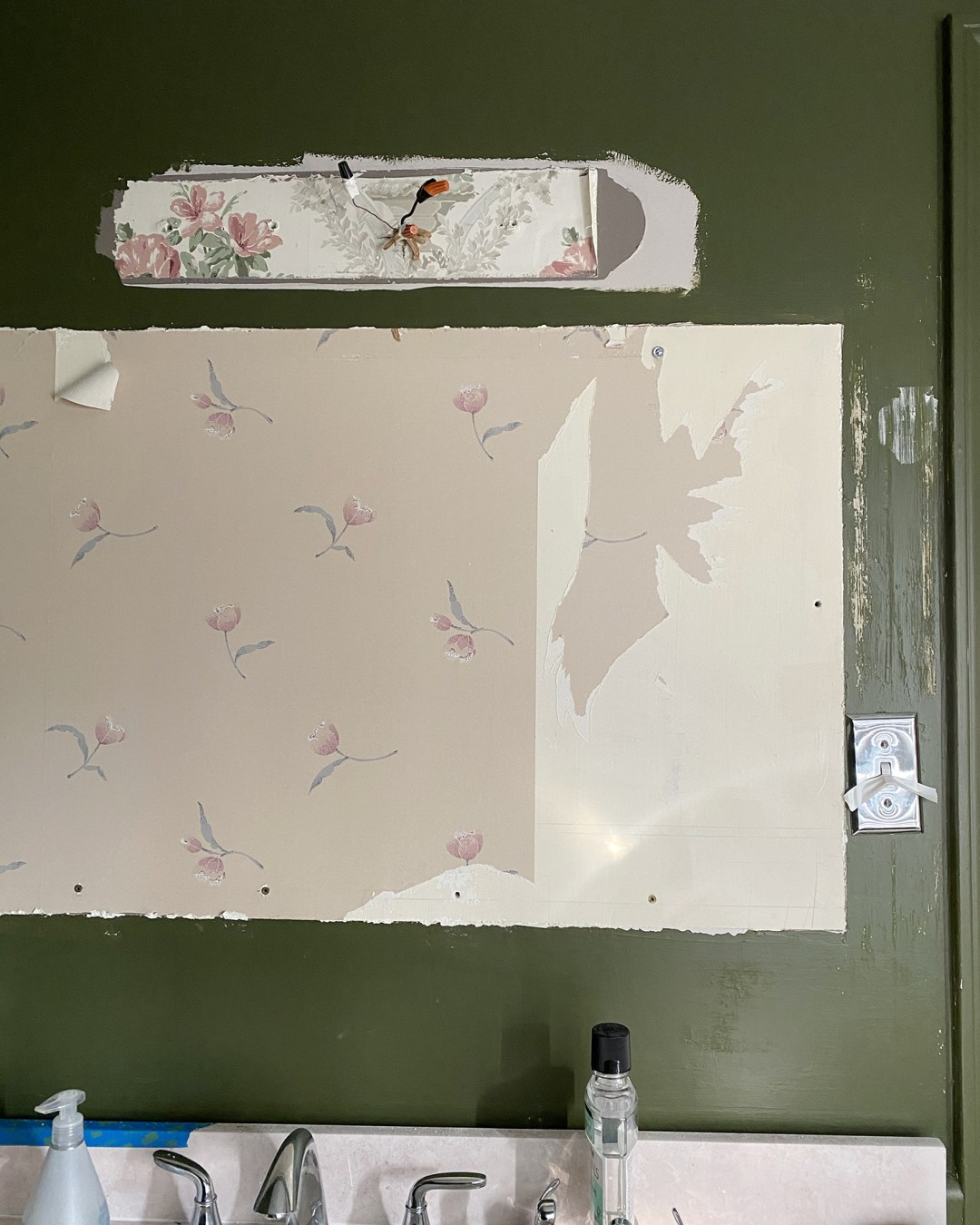 Removing Wallpaper Behind MIrror